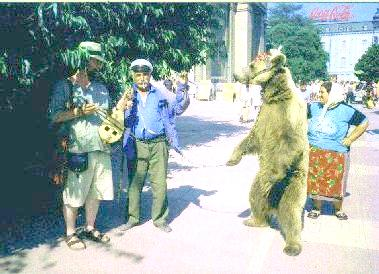 Dork Zygotian and his dancing bear